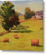 August Hay Field Metal Print