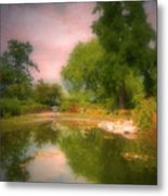 August In The Gardens Metal Print