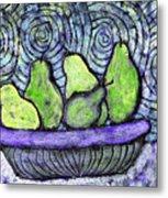 August Pears Metal Print