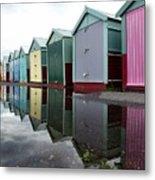August Rains On The Promenade Metal Print