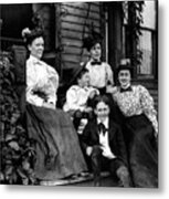 Aunt Emma, Morris, Edith, Fred And Charles On Porch June 12, '97 Metal Print