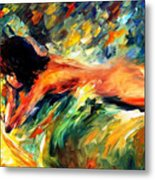 Aura Of Love - Palette Knife Oil Painting On Canvas By Leonid Afremov Metal Print