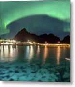 Aurora Above Turquoise Waters Metal Print