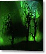 Aurora Borealis Lights - Painting Metal Print