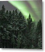 Aurora Borealis Over Finland Metal Print