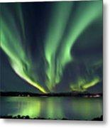 Aurora Borealis Over Tjeldsundet Metal Print by Arild Heitmann