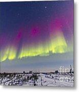 Aurora Borealis Seen From Churchill Metal Print