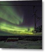 Aurora, Night Sky At Alaska, Fairbanks Metal Print
