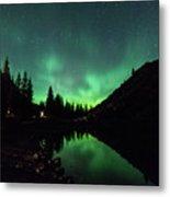 Aurora On Moraine Lake Metal Print