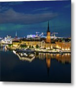 Aurora Over Stockholm In The Fall 2018 Metal Print