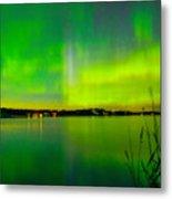 Aurora Reflection Metal Print