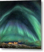 Aurora Umbrella Metal Print