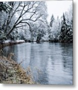 Ausable Winter Metal Print