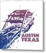 Austin 360 Bridge, Texas Metal Print