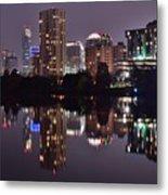 Austin Lights Up Lady Bird Lake Metal Print