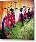 Austin Texas Bikes  -- Original Painting Metal Print