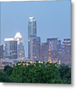 Austin Texas Building Skyline After The The Lights Are On Metal Print