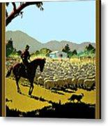 Australia, Shepherd Metal Print