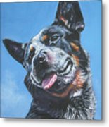 Australian Cattle Dog 2 Metal Print by Lee Ann Shepard