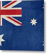 Australian Flag Vintage Retro Style Metal Print