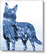 Australian Kelpie-blue Metal Print