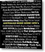 Australian Music Scene 1970's No 8 Metal Print