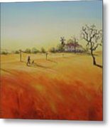 Australian Outback Painting The Way Home  Metal Print
