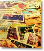 Australian Postal Background Metal Print