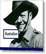Australian This Man Is Your Friend  Metal Print