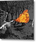 Australopithecus And The Dragon Metal Print