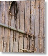 Austrian Barn Door Metal Print