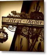 Austrian Beer Cellar Sign Metal Print