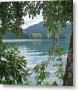Austrian Lake Through The Trees Metal Print