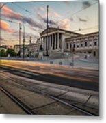 Austrian Parliament In Vienna Metal Print