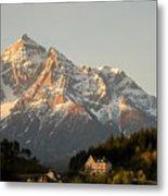 Austrian Sunrise Metal Print by Denise Darby