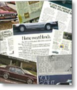 Auto  Ad's Collage 1 Metal Print