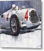 Auto Union C Type 1937 Monaco Gp Hans Stuck Metal Print