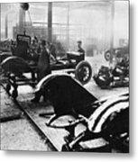 Automobile Manufacturing Metal Print