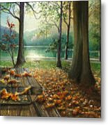 Autum Splendor Bunzen Lake Metal Print