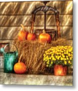 Autumn - Pumpkin - A Still Life With Pumpkins Metal Print