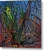 Autumn Abstraction Metal Print