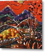 Autumn Adirondack Sunset Metal Print by Carol Law Conklin