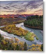 Autumn Along The Snake River Metal Print