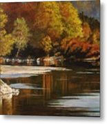Autumn Along The Stillaguamish Metal Print