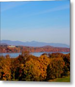 Autumn And The Hudson River Metal Print