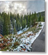 Autumn And Winter In One Metal Print