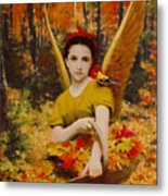 Autumn Angels Metal Print