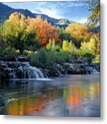 212m47-autumn At Cascade Springs  Metal Print