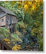 Autumn At Cedar Creek Grist Mill Metal Print