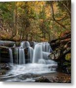 Autumn At Dunloup Creek Falls Metal Print